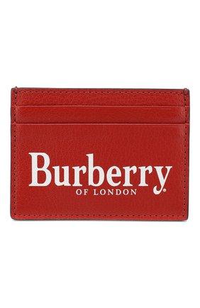 Мужской кожаный футляр для кредитных карт BURBERRY красного цвета, арт. 8005983 | Фото 1