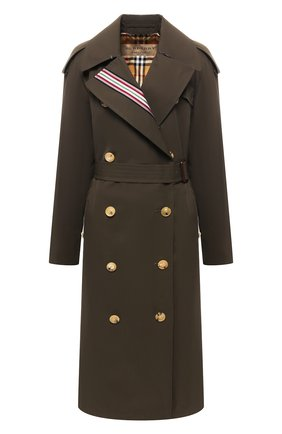 Двубортное хлопковое пальто | Фото №1