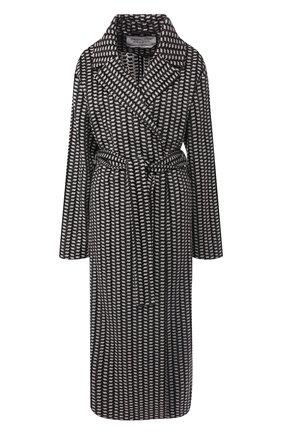 Кашемировое пальто с шелковым платком | Фото №1