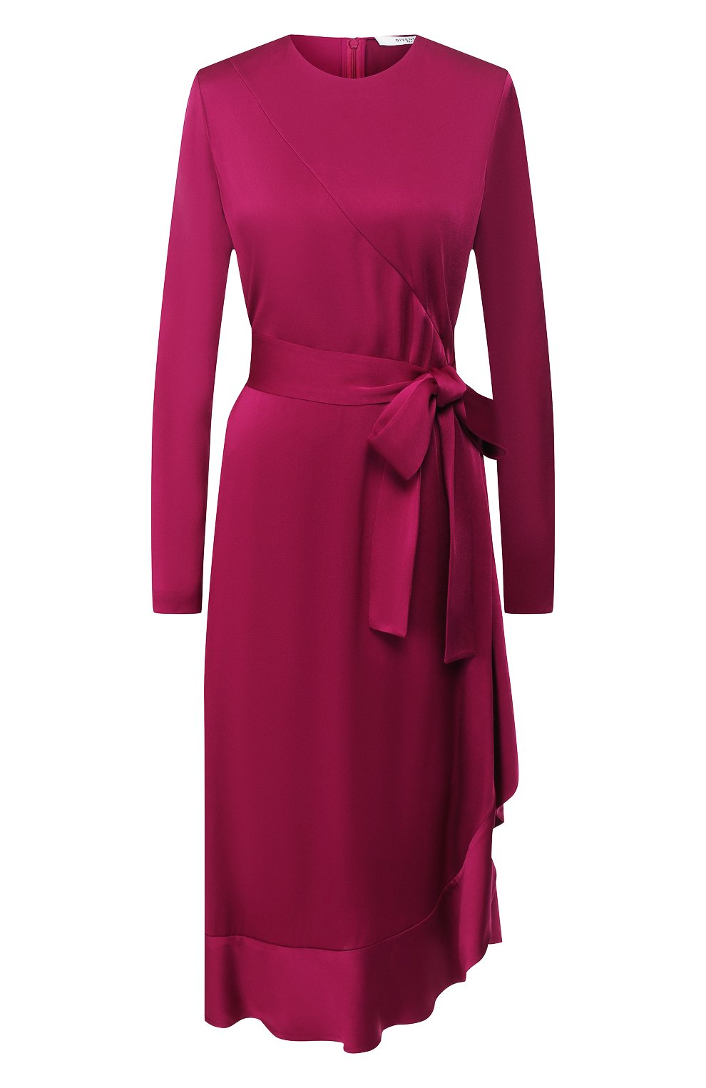 Женское платье-миди с поясом GIVENCHY фиолетового цвета, арт. BW20GJ10F4   Фото 1