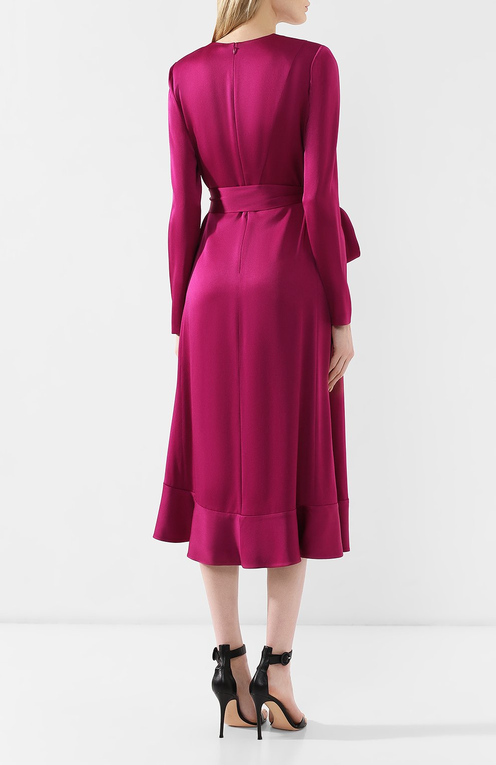 Женское платье-миди с поясом GIVENCHY фиолетового цвета, арт. BW20GJ10F4   Фото 4