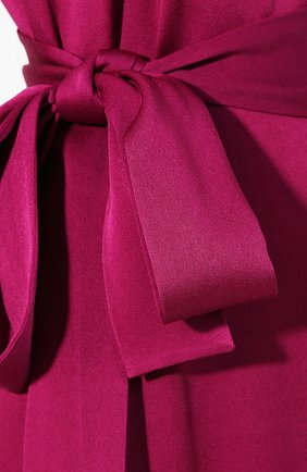 Женское платье-миди с поясом GIVENCHY фиолетового цвета, арт. BW20GJ10F4   Фото 5