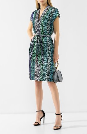 Женское шелковое платье ESCADA зеленого цвета, арт. 5029284 | Фото 2