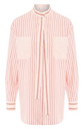 Женская шелковая блузка LORO PIANA розового цвета, арт. FAI4482   Фото 1