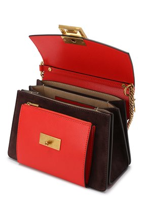Женская сумка gv3 small GIVENCHY красного цвета, арт. BB501CB033 | Фото 4