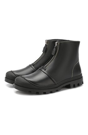 Кожаные ботинки Loewe черные | Фото №1