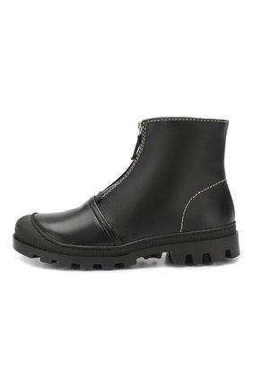 Кожаные ботинки Loewe черные | Фото №3