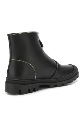 Кожаные ботинки Loewe черные | Фото №4