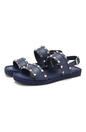Кожаные сандалии Valentino Garavani Rockstud Torchon | Фото №1