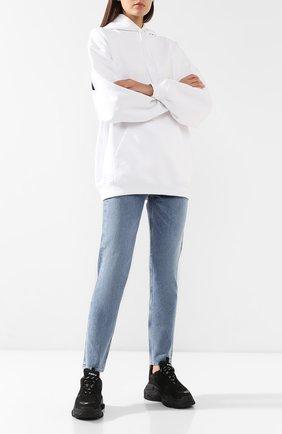 Женские комбинированные кроссовки triple s BALENCIAGA черного цвета, арт. 524036/W0901 | Фото 2