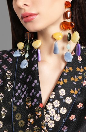 Женские серьги sloane CULT GAIA разноцветного цвета, арт. 30021AC/M   Фото 2 (Статус проверки: Проверена категория; Материал: Металл, Пластик)