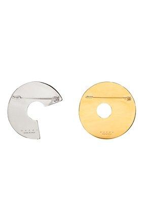 комплект из двух брошей MARNI коричневого цвета, арт. SPMV0028A0/P3000 | Фото 2