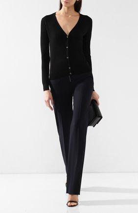 Женский шерстяной кардиган THEORY черного цвета, арт. I1211704 | Фото 2