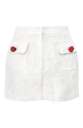 Женские шорты из смеси хлопка и шелка DOLCE & GABBANA белого цвета, арт. FTBC0T/FJM04 | Фото 1