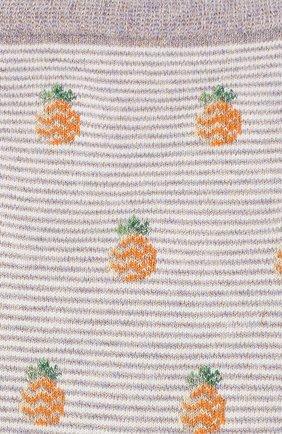 Женские хлопковые носки ROYALTIES бежевого цвета, арт. ANANAS/AMETHYSTE | Фото 2