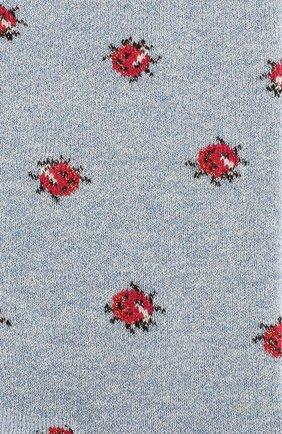 Женские носки ROYALTIES голубого цвета, арт. C0CCINELLE/AZUR | Фото 2