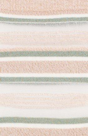 Женские носки ROYALTIES светло-розового цвета, арт. RUBAN/P0UDRE | Фото 2