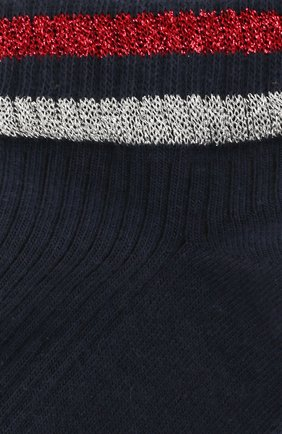 Женские хлопковые носки ROYALTIES темно-синего цвета, арт. SET/MARINE | Фото 2