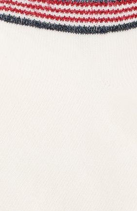 Женские хлопковые носки ROYALTIES белого цвета, арт. T0M/GRENAT | Фото 2