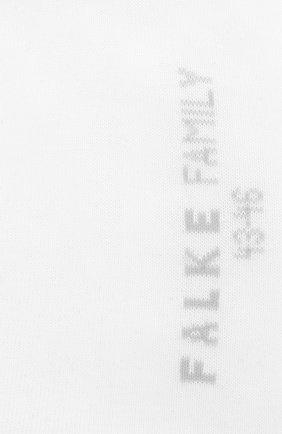 Мужские хлопковые носки family FALKE белого цвета, арт. 14645 | Фото 2