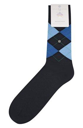 Мужские хлопковые носки manchester BURLINGTON темно-синего цвета, арт. 20182 | Фото 1