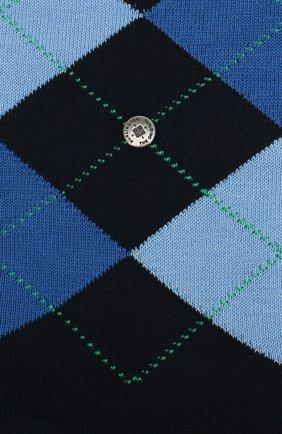 Мужские хлопковые носки manchester BURLINGTON темно-синего цвета, арт. 20182 | Фото 2