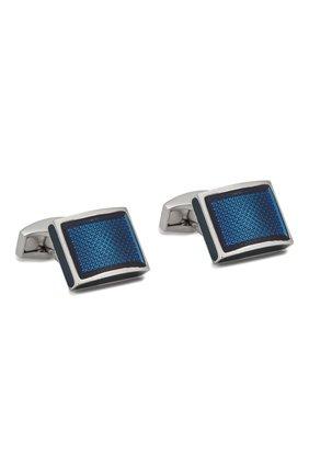 Мужские запонки TATEOSSIAN синего цвета, арт. CL5588 | Фото 1