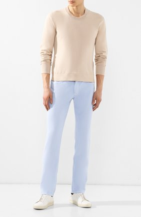 Мужские кожаные кеды TOM FORD белого цвета, арт. J1045T-DAP | Фото 2