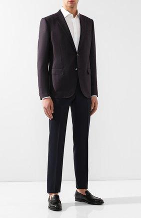Мужские кожаные пенни-лоферы BOTTEGA VENETA черного цвета, арт. 498398/VBFV0 | Фото 2