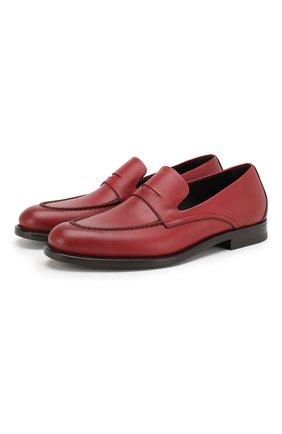 Мужские кожаные пенни-лоферы BOTTEGA VENETA красного цвета, арт. 498398/VBFV0 | Фото 1