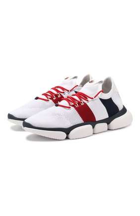 Мужские текстильные кроссовки bubble MONCLER белого цвета, арт. E1-09A-10362-00-01A6H | Фото 1