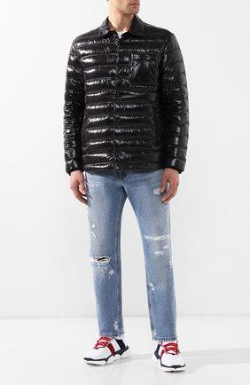 Мужские текстильные кроссовки bubble MONCLER белого цвета, арт. E1-09A-10362-00-01A6H | Фото 2