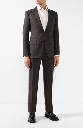 Мужская сорочка из смеси хлопка и шелка BRIONI кремвого цвета, арт. RCLU1G/P804R | Фото 2