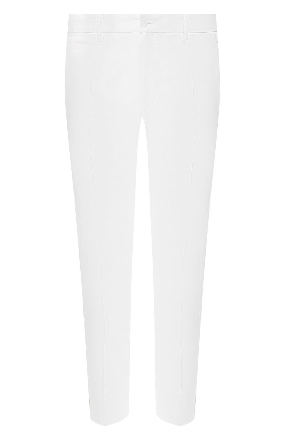Хлопковые брюки Dolce & Gabbana  белые | Фото №1