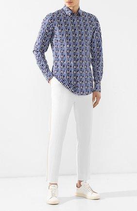 Хлопковые брюки Dolce & Gabbana  белые | Фото №2