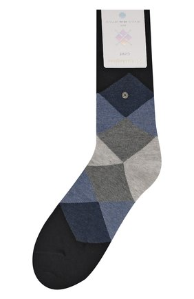Мужские хлопковые носки BURLINGTON темно-синего цвета, арт. 20942 | Фото 1