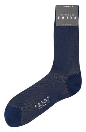 Мужские хлопковые носки fine shadow FALKE темно-синего цвета, арт. 13141 | Фото 1