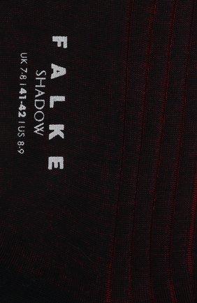 Мужские хлопковые носки shadow FALKE красного цвета, арт. 14648 | Фото 2
