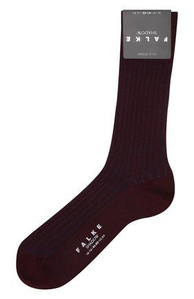 Мужские хлопковые носки shadow FALKE бордового цвета, арт. 14648 | Фото 1