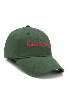 Мужской хлопковая бейсболка BILLIONAIRE BOYS CLUB зеленого цвета, арт. B19161 | Фото 1