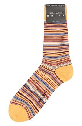 Мужские хлопковые носки microblock FALKE желтого цвета, арт. 14041 | Фото 1