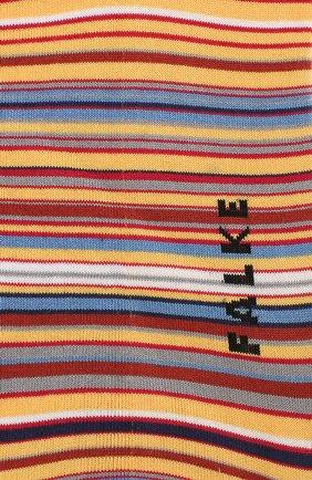 Мужские хлопковые носки microblock FALKE желтого цвета, арт. 14041 | Фото 2