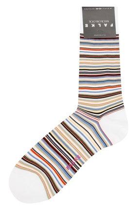 Мужские хлопковые носки microblock FALKE белого цвета, арт. 14041   Фото 1