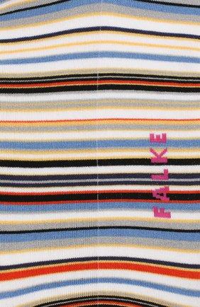 Мужские хлопковые носки microblock FALKE белого цвета, арт. 14041   Фото 2