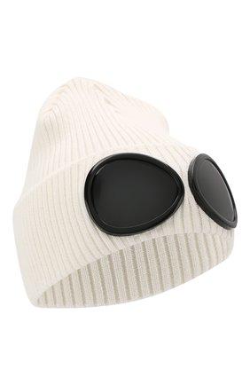 Мужская хлопковая шапка C.P. COMPANY белого цвета, арт. 06CMAC124A-000727A | Фото 1