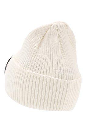 Мужская хлопковая шапка C.P. COMPANY белого цвета, арт. 06CMAC124A-000727A | Фото 2