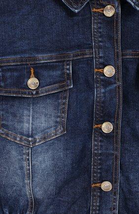 Детская джинсовая куртка JAKIOO синего цвета, арт. 493100R9 | Фото 3 (Рукава: Длинные; Кросс-КТ: Деним; Материал внешний: Хлопок; Статус проверки: Проверено, Проверена категория; Ростовка одежда: 10 - 11 лет | 140 - 146см, 12 лет | 152 см, 8 лет | 128 см, 13 - 15 лет | 158 см)