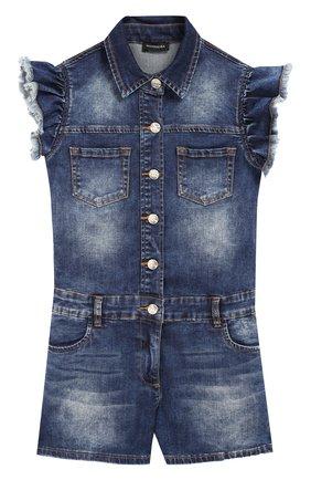 Детский джинсовый комбинезон JAKIOO синего цвета, арт. 493200R9 | Фото 1