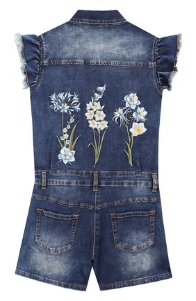 Детский джинсовый комбинезон JAKIOO синего цвета, арт. 493200R9 | Фото 2