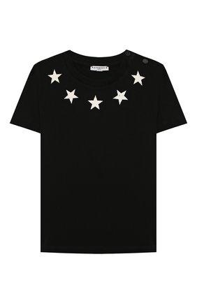 Детский хлопковая футболка GIVENCHY черного цвета, арт. H05073/2A-3A | Фото 1